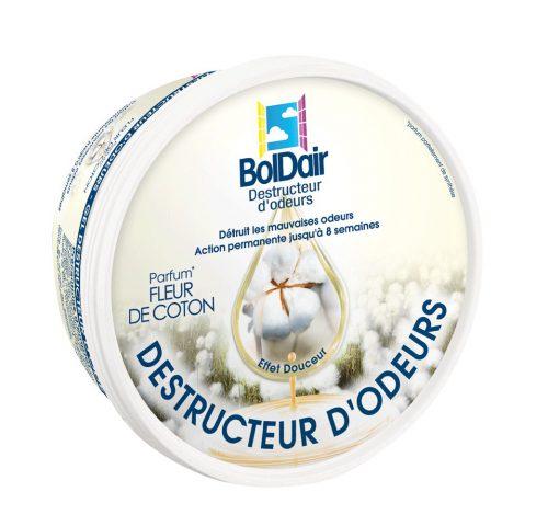 Gel destructeur d'odeur Boldair parfum fleur de coton