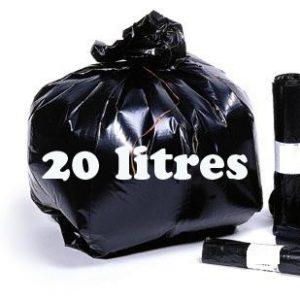 Sacs poubelle 20 litres noir BD