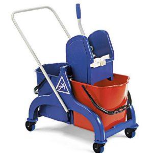 Chariot de lavage Fred 2x15 L timon rilsan