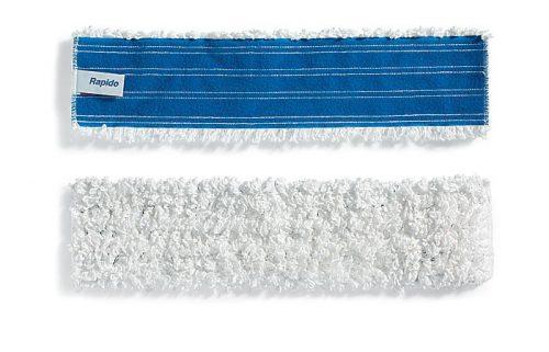 Frange de lavage 40 cm fil blanc microfibres pour support velcro