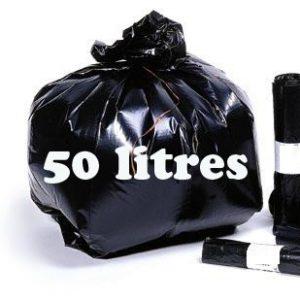 Sacs poubelle 50 litres noir BD
