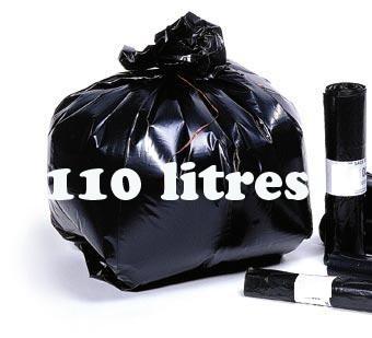 Sacs poubelle 110 litres noir BD 50 microns
