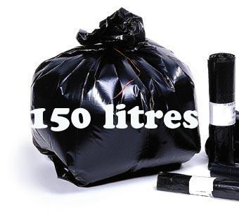 Sacs poubelle 150 litres noir BD 70 microns