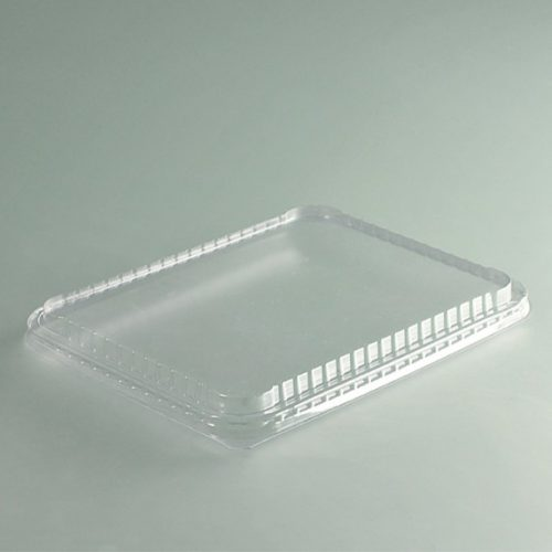 Couvercle plastique cristal pour plat à compartiment PC