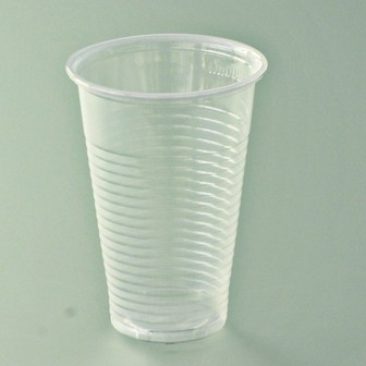 Gobelet translucide strié polypro