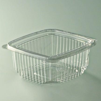 Barquette salade cristal avec couvercle attenant