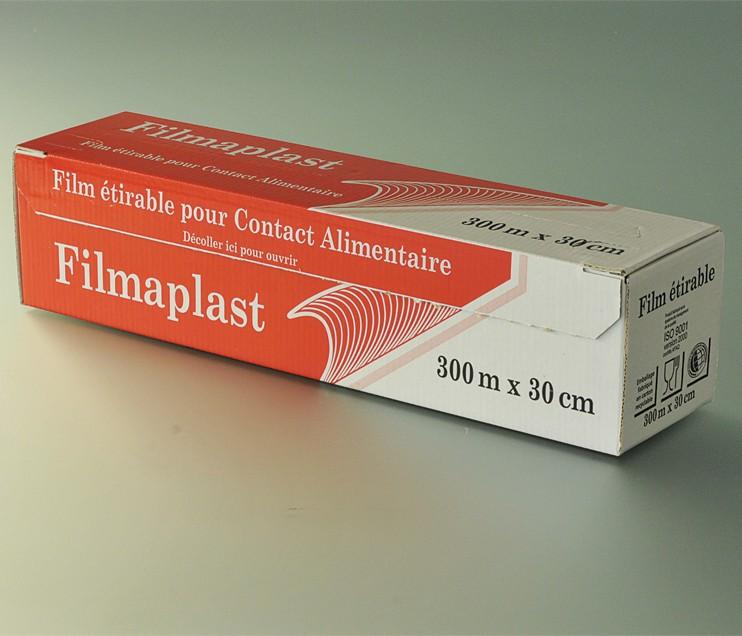 Film alimentaire en boite distributrice