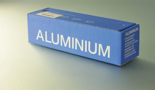 Rouleau aluminium en boite distributrice
