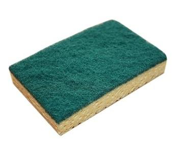 Tampon vert sur éponge gamme éco