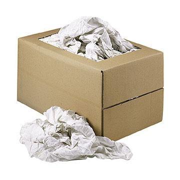 Chiffons blanc coton fin carton de 10 kg