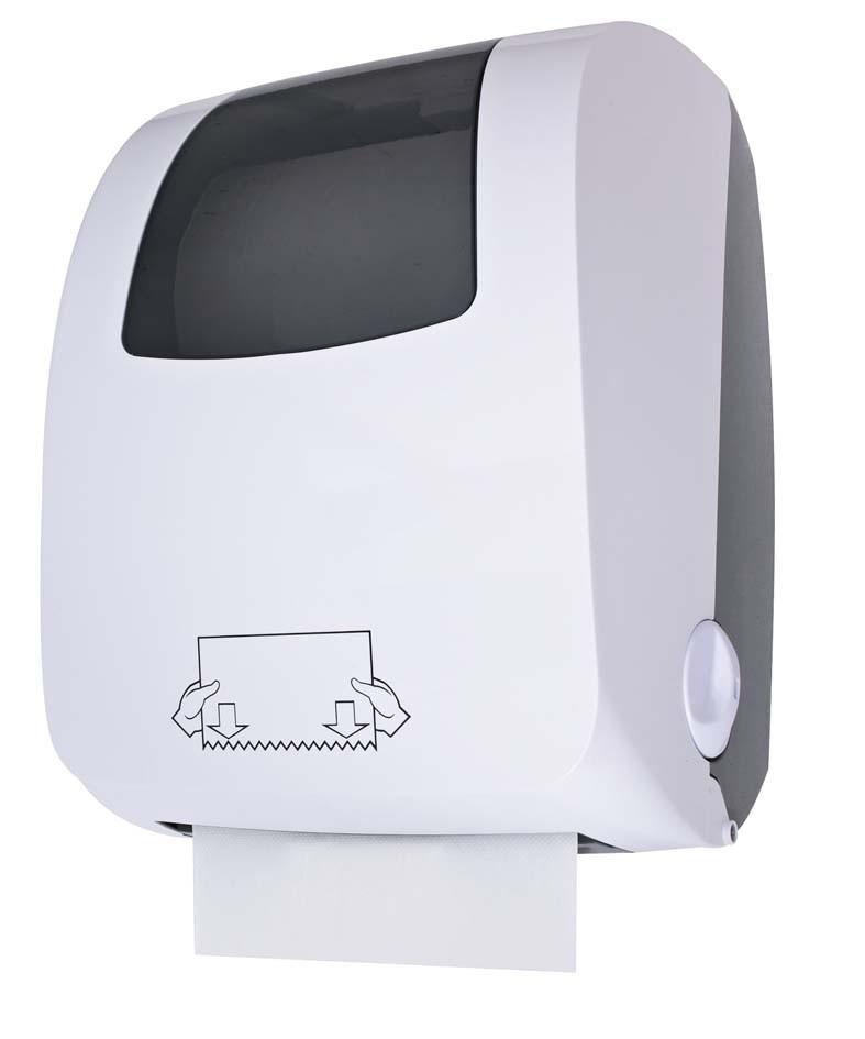 Distributeur auto cut manuel essuie mains rouleaux for Distributeur savon salle de bain