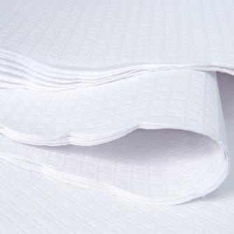 Nappe ronde en papier blanc