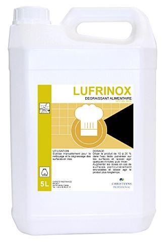 Lufrinox dégraissant alimentaire spécial inox