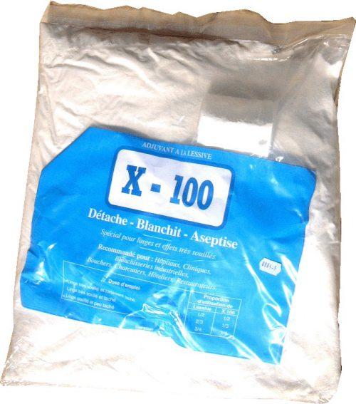 x-100 additif poudre détachante
