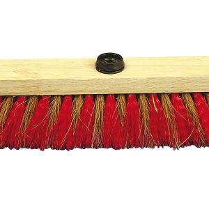 Balai coco zébré 29 cm avec douille à vis