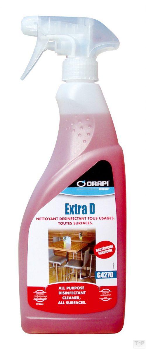 Extra D nettoyant dégraissant désinfectant surfaces
