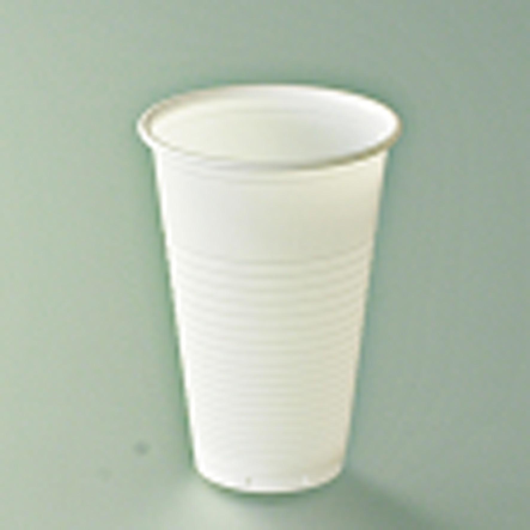 Gobelet blanc strié polypro