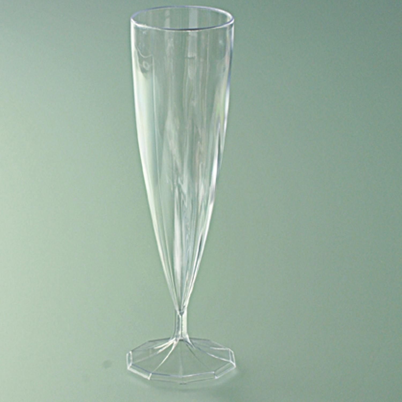 Flûte champagne monobloc plastique cristal 13,5 cl