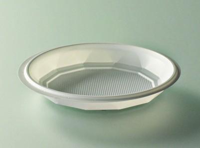 Assiette plastique blanc diamètre 120 mm